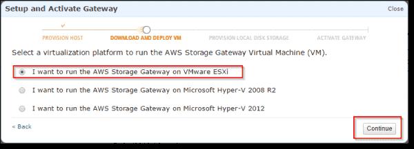 Select VMware ESXi
