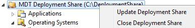Update Deployment Share in GUI
