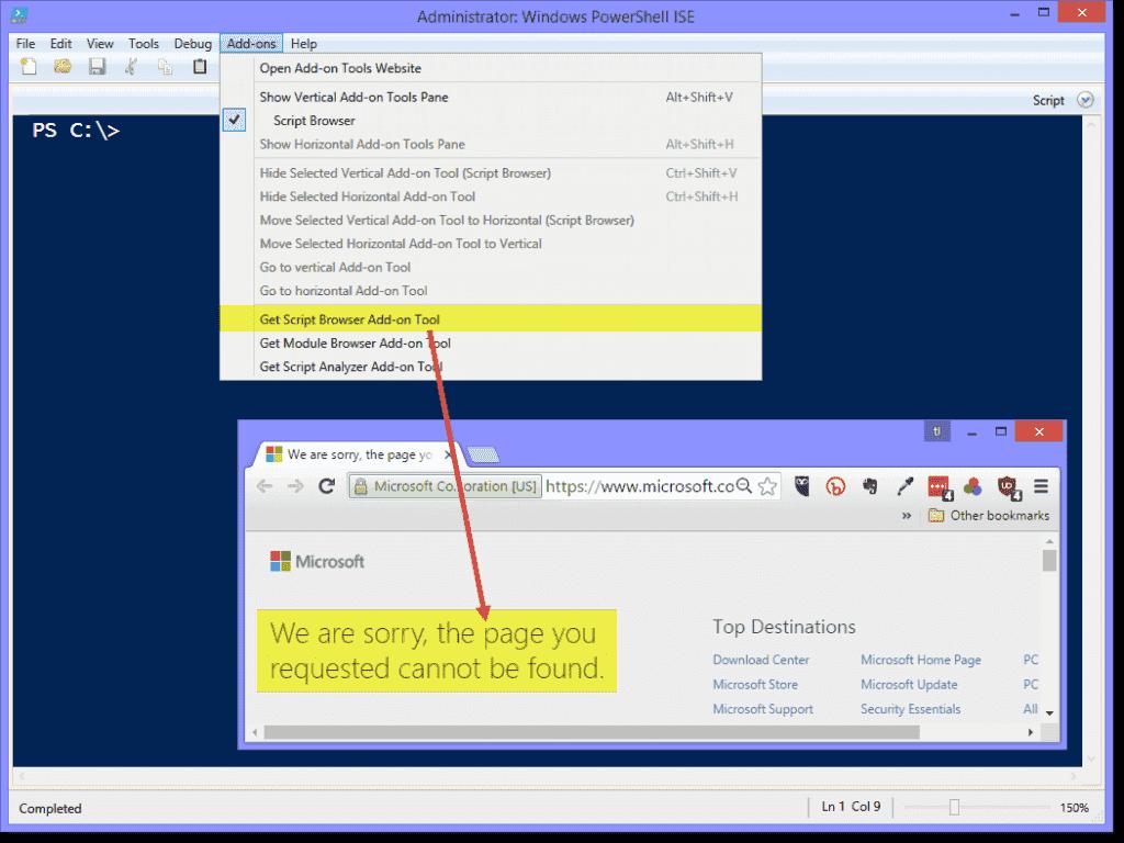 enable windows powershell ise