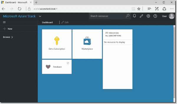 Azure Stack local portal