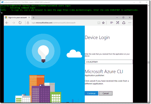 Azure authentication