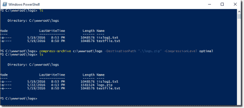 Zip and unzip with PowerShell