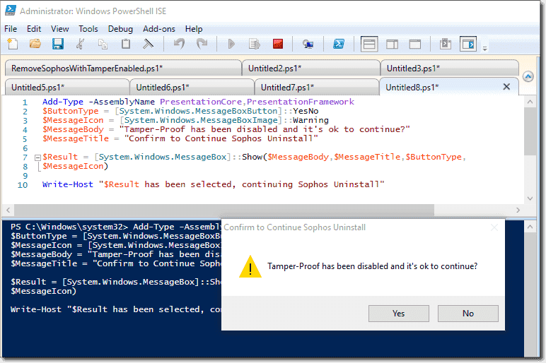 Uninstall tamper-protected Sophos Antivirus with PowerShell – 4sysops