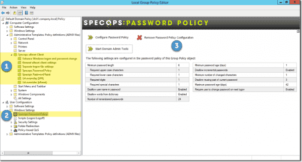 Specops Password Policy integrated into a GPO