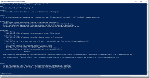 Incremental file copy with PowerShell and xcopy