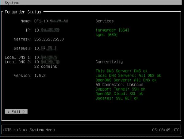 Dynamic forwarder setup 1
