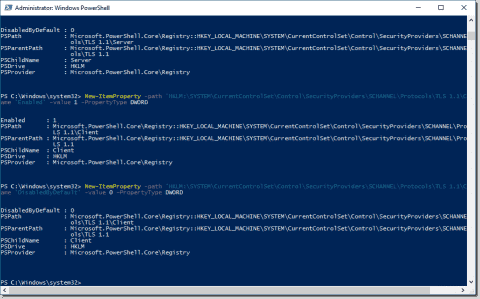 Disable SSL in Windows Server 2016 with PowerShell