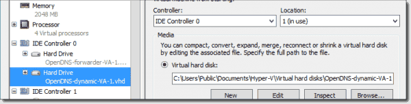IDE controller second VHD