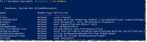 Making PowerShell go out and call the web server