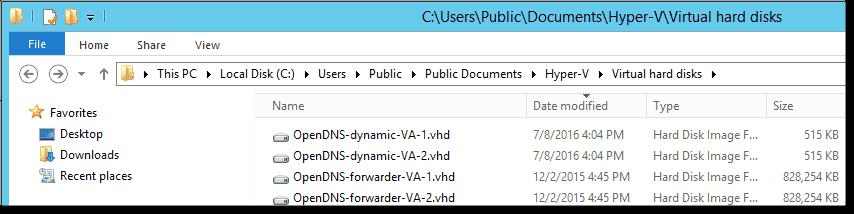 Install OpenDNS Umbrella Virtual Appliances on Hyper-V 2012
