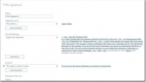 Add signature and disclaimer in Office 365