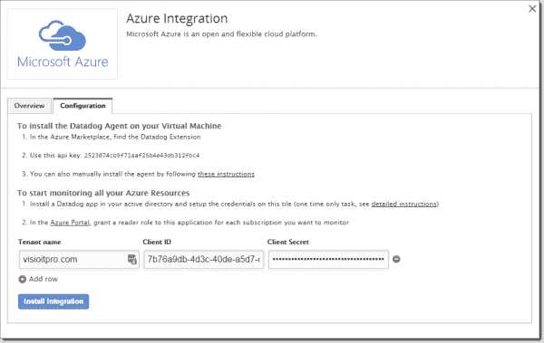 Completing the Azure-Datadog integration
