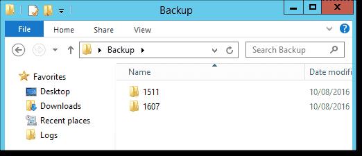 Create a backup folder