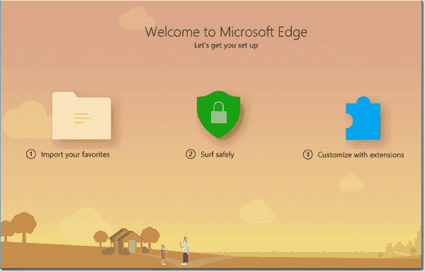 Edge Welcome Page