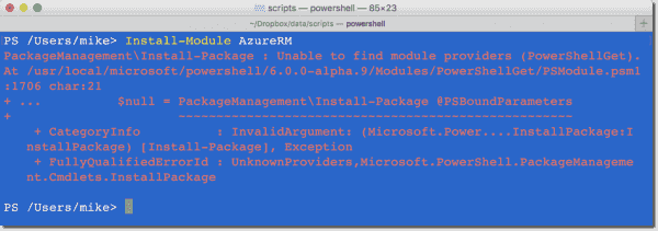 Install-Module not working