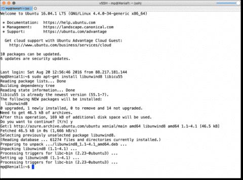 Install PowerShell on Ubuntu 16.04