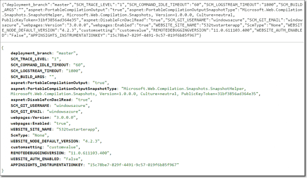 Raw JSON above, formatted JSON below