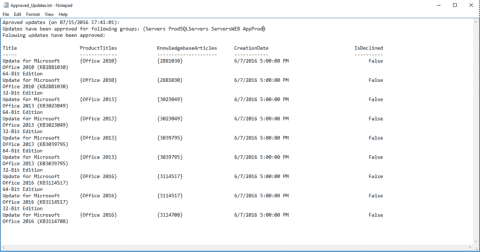 Approve WSUS updates with a PowerShell script