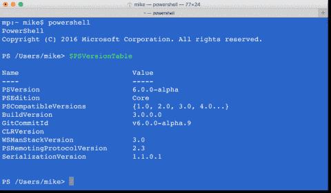 Install PowerShell on Mac OS X
