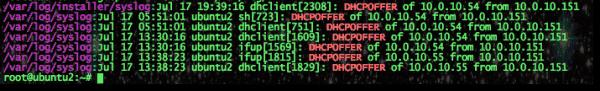 Ubuntu grep DHCP leases