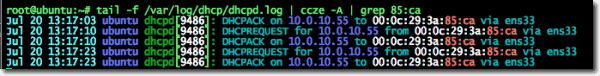 Using grep and ccze to find an address