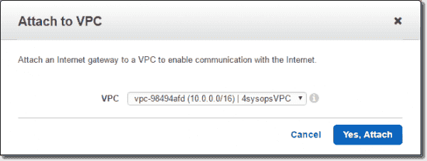 Attach IGW to VPC