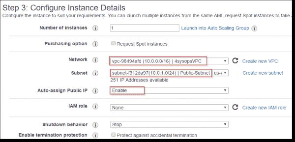 Configure Bastion instance details