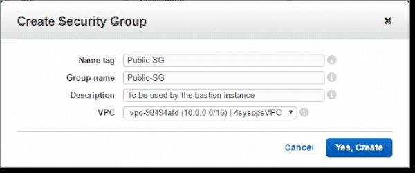 Create Public SG security group