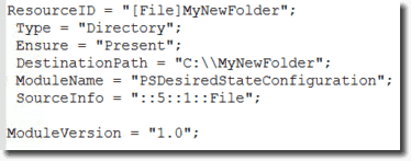 Each MOF instructs each node to create a different folder.