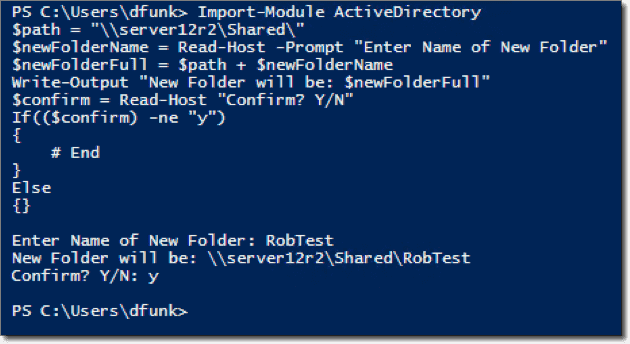 Create a new folder and set permissions with PowerShell