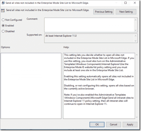 New Group Policy settings in Windows 10 1607
