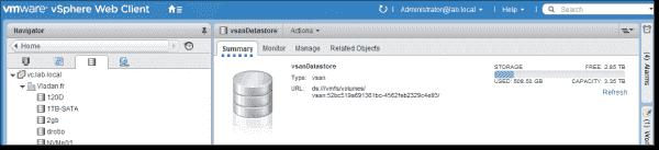 VMware VSAN capacity monitoring