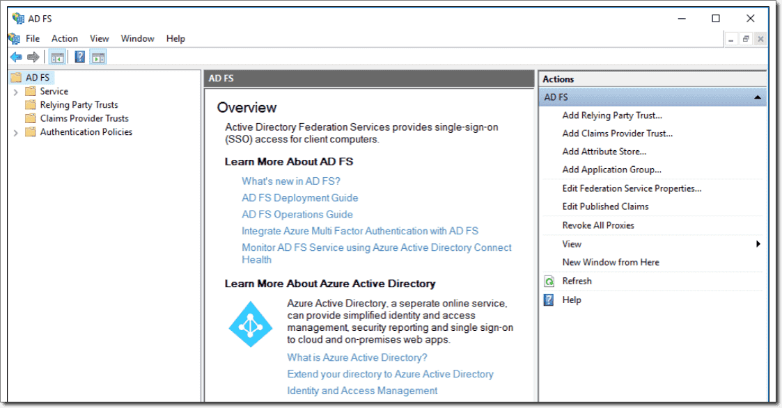 Active directory federation services in windows server 2016 4sysops - Console active directory ...