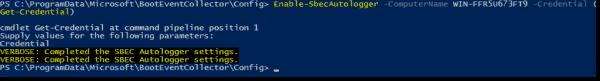 Configure target computers to send ETW events