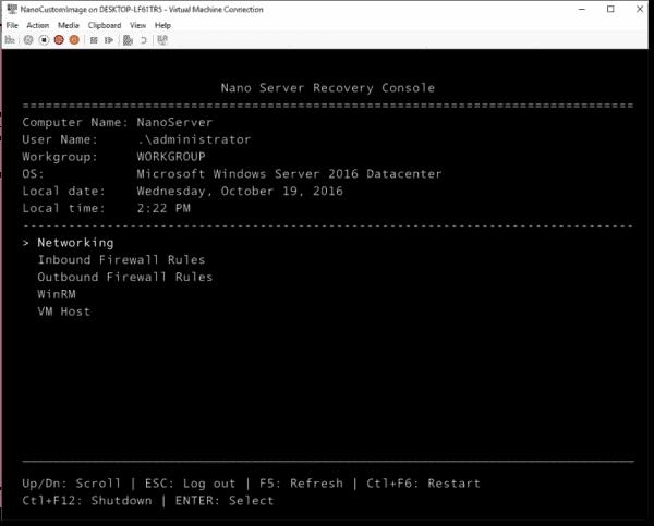 Custom Nano Server deployment
