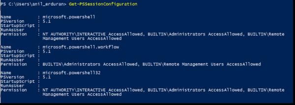 Default Session Configurations