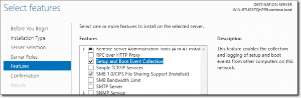 Install Service using Server Manager
