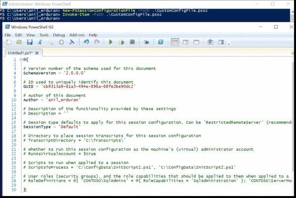 Session Configuration File Content