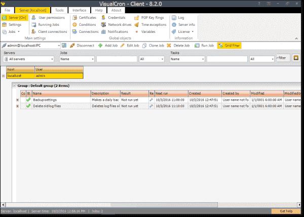 VisualCron Client