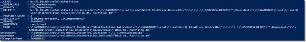Win32_DiskDriveToPartition WMI object