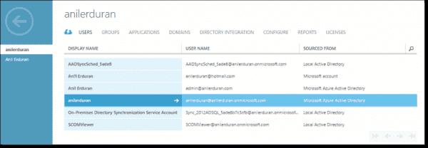 Azure Active Directory account