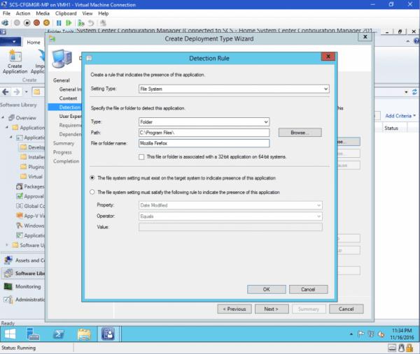 Create application deployment rule