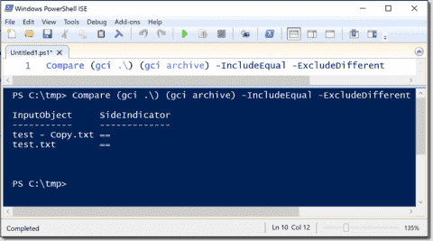 Compare folders with PowerShell