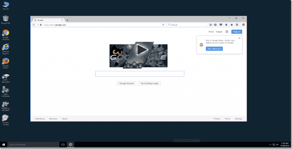 Firefox is installed and configured