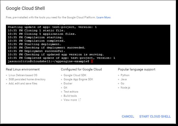 Google Cloud Shell overview