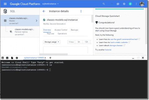 Import a database to a Google Cloud SQL instance