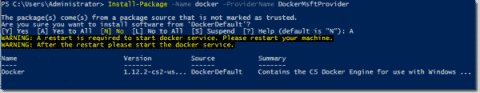 How to install SQL Server Express 2016 in a Windows Container (Docker)