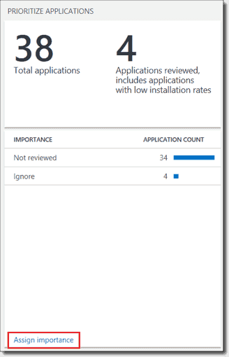 Prioritize applications