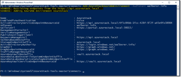 Register Azure Stack environment