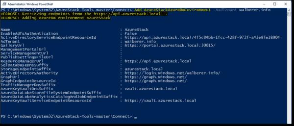 Register Azure Stack environment